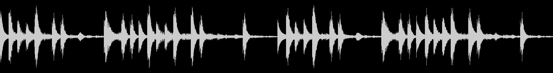 【ループB】浮遊感あるシンセが続くテクノの未再生の波形