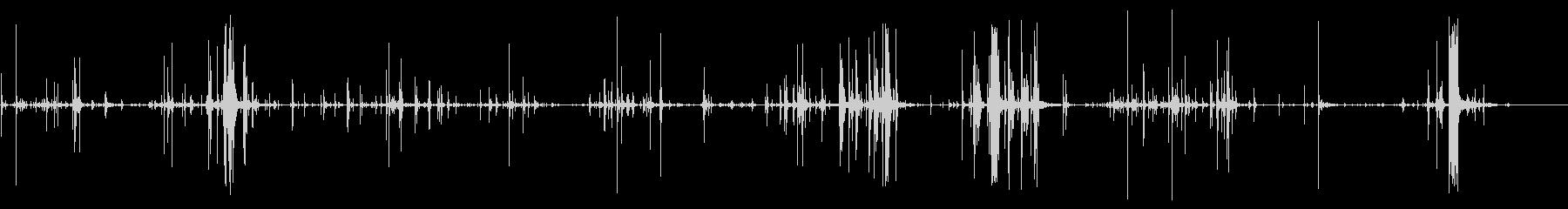 ウッドクラッキングウッドヒットの未再生の波形