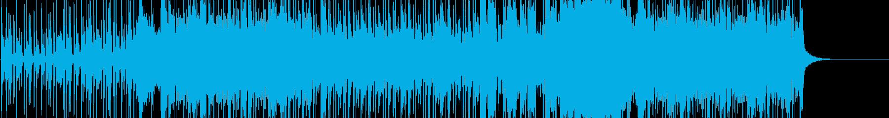 ファンキーロックミュージックの再生済みの波形