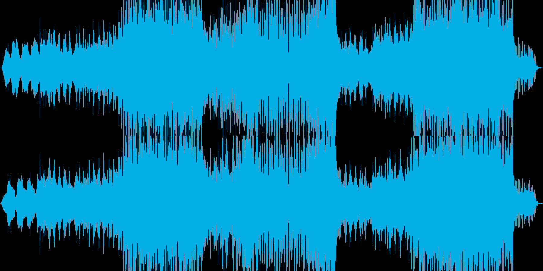 冬っぽいインストの再生済みの波形