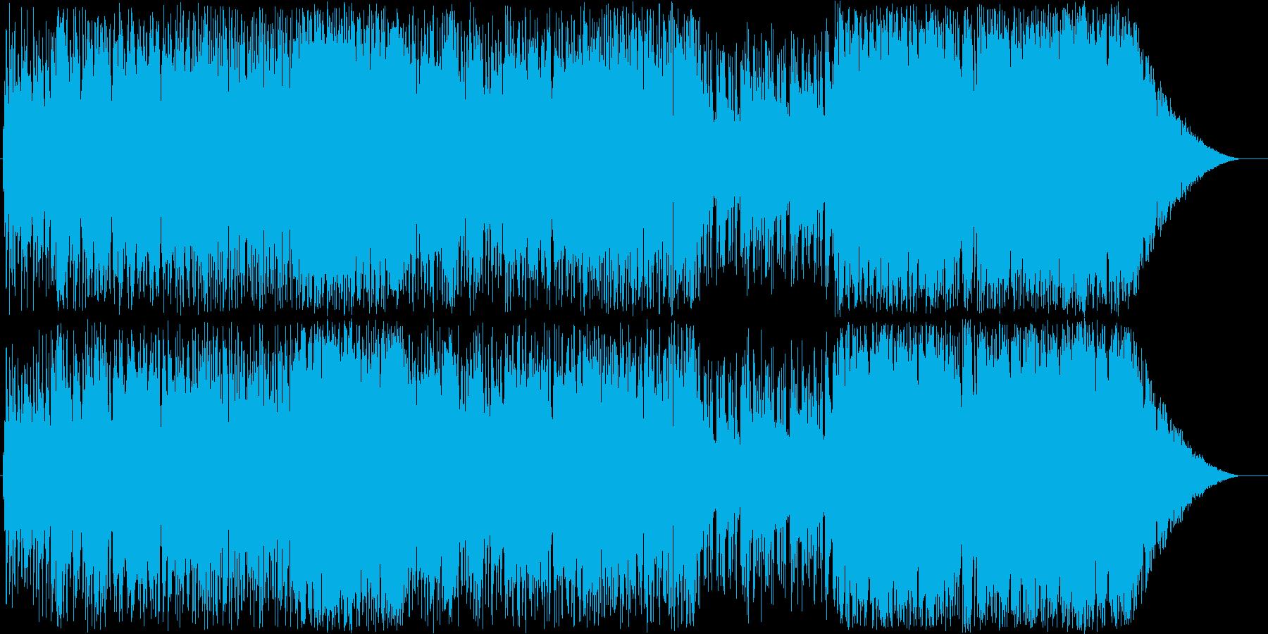 爽やかなエレキギターフュージョンの再生済みの波形