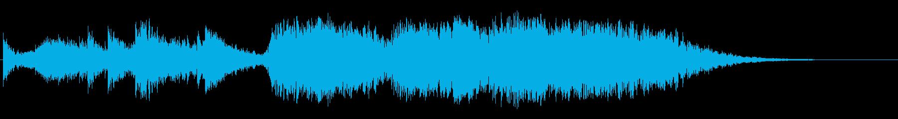 ハリウッド映画風BGM(浮遊感・恐怖)の再生済みの波形