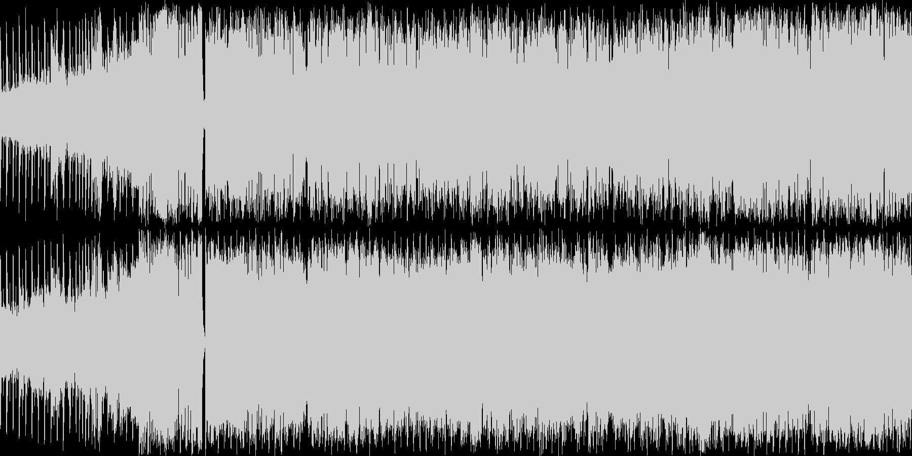 オーケストラとEDMを混ぜたBGMの未再生の波形