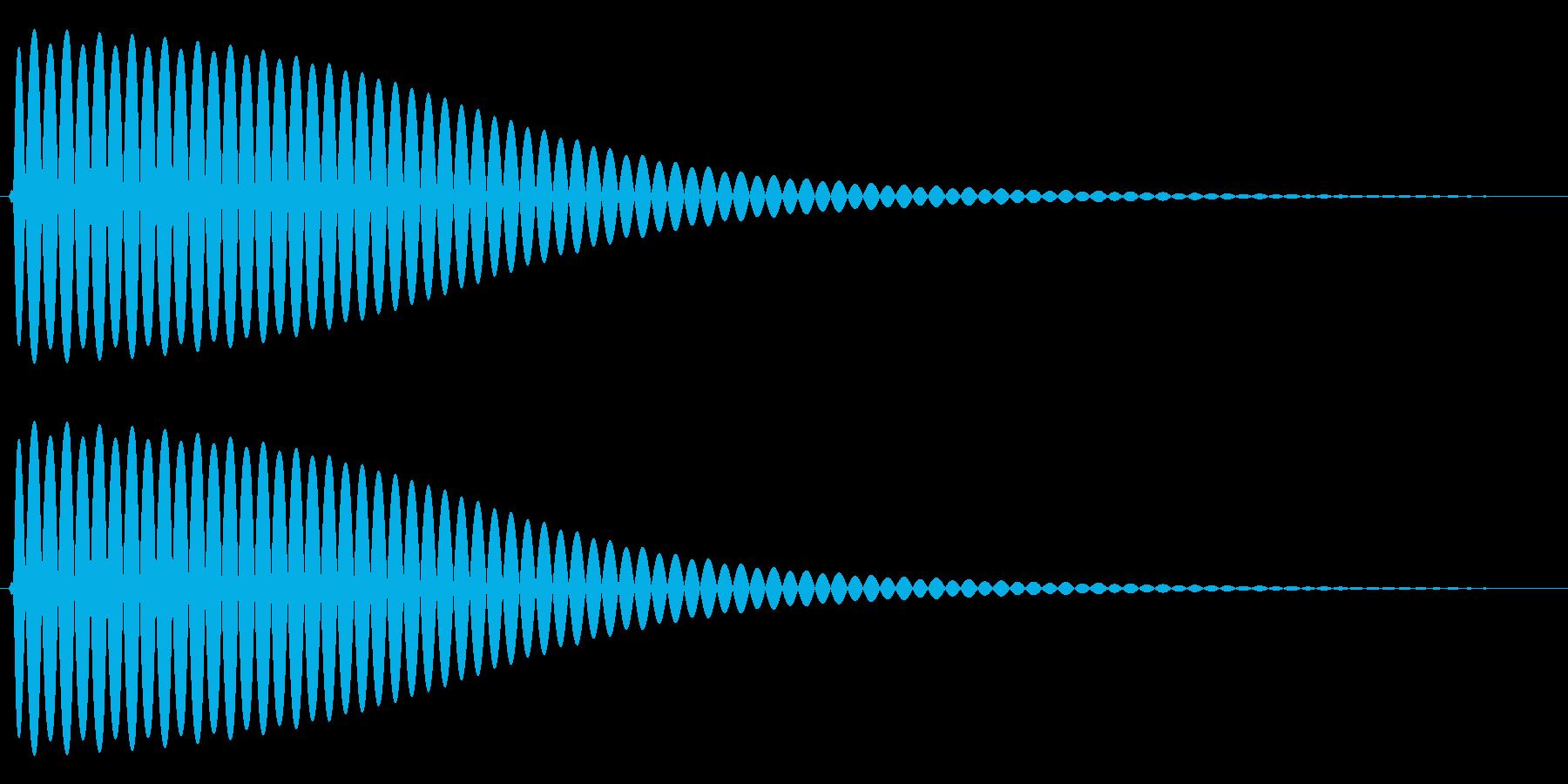 Com ファミコンなどのコマンド音 1の再生済みの波形