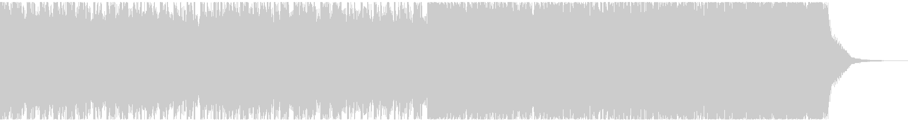 ピアノと電子音の疾走感あるジングルの未再生の波形