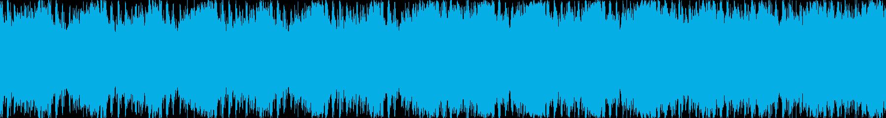 希望に満ちたポジティブな明るい曲 ループの再生済みの波形