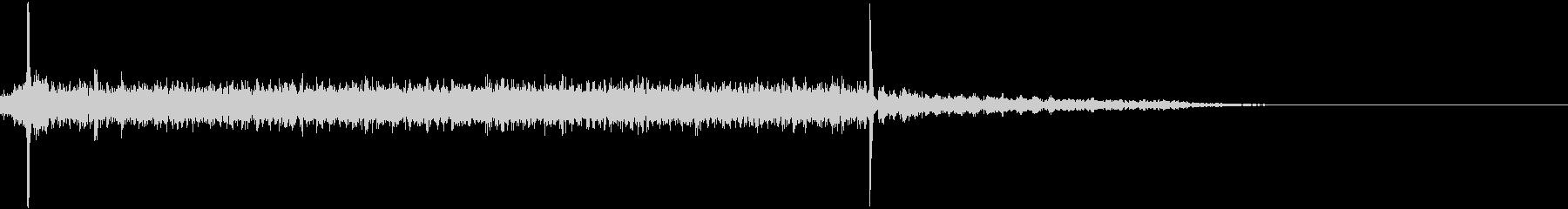 ガラガラガラガラカチシュルルルル…の未再生の波形