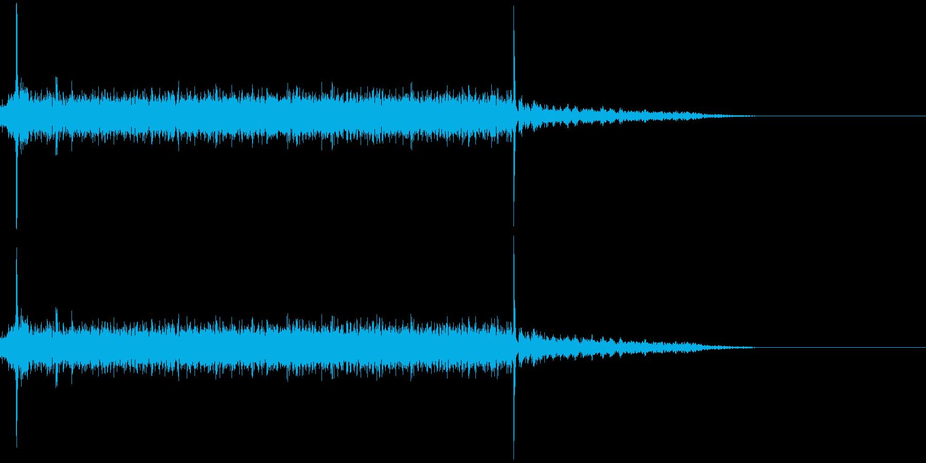 ガラガラガラガラカチシュルルルル…の再生済みの波形
