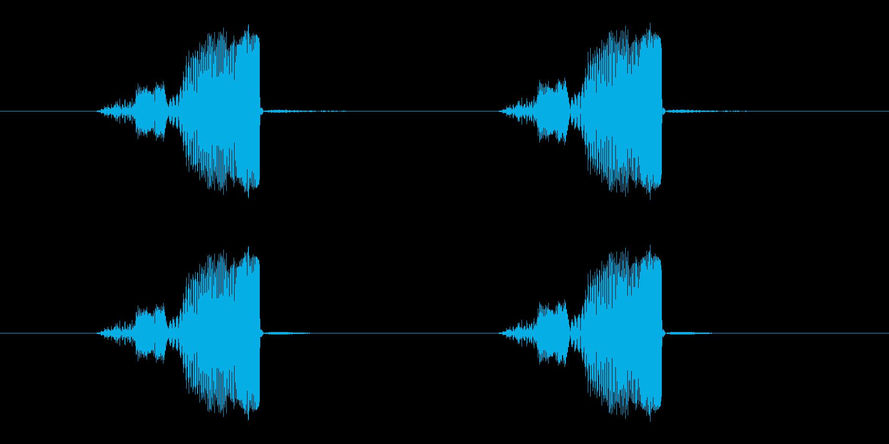 まばたきパチパチの再生済みの波形