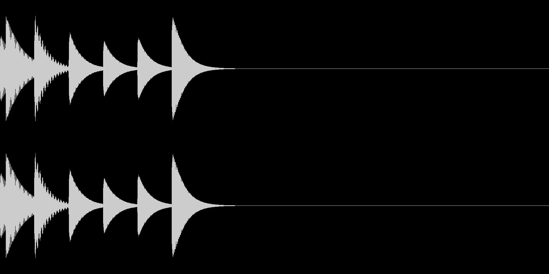 アイキャッチ/システム音/エラー音/2の未再生の波形
