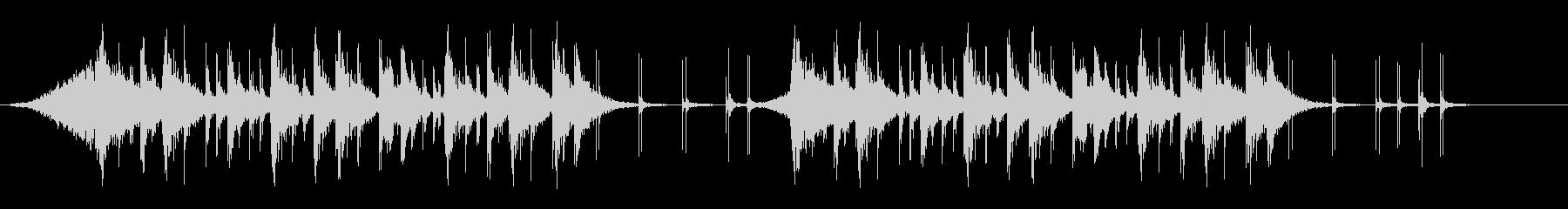 勢いのあるタイポグラフィ向けリズムロゴの未再生の波形