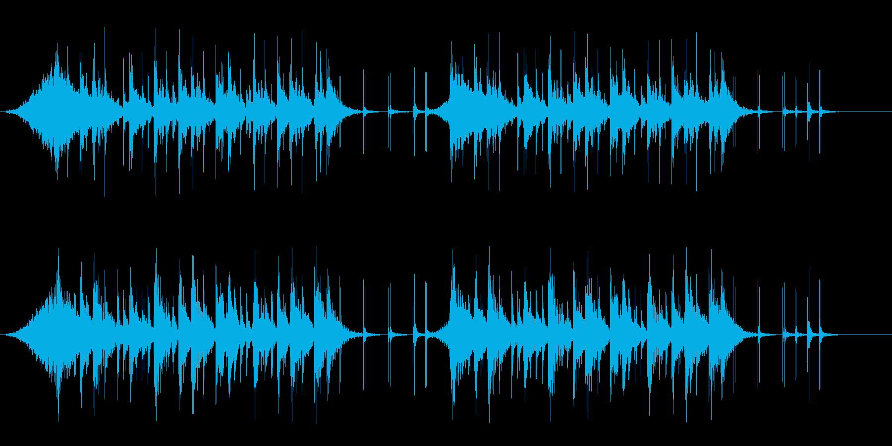 勢いのあるタイポグラフィ向けリズムロゴの再生済みの波形