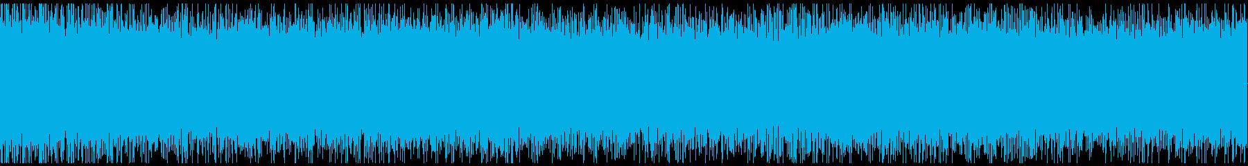新幹線の中の喧騒の環境音です。の再生済みの波形