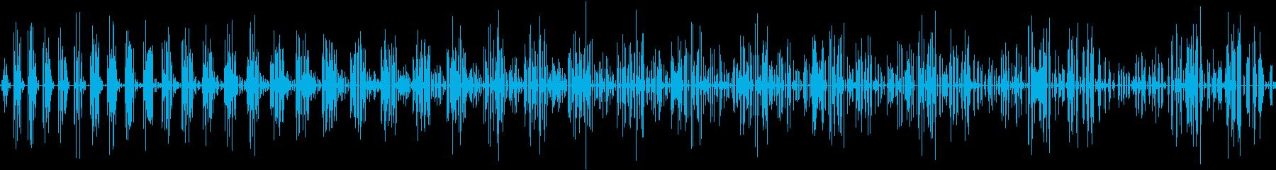巻き下げスワイプの再生済みの波形