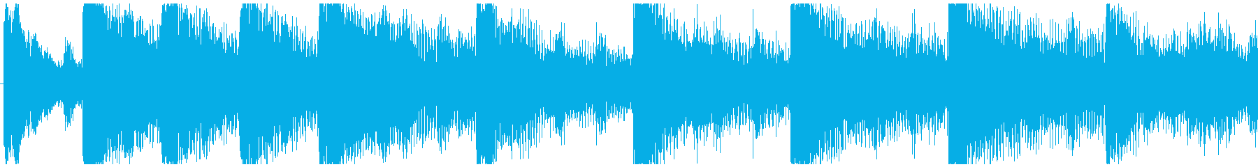 ハローウィン用のホラー曲-ループ2の再生済みの波形