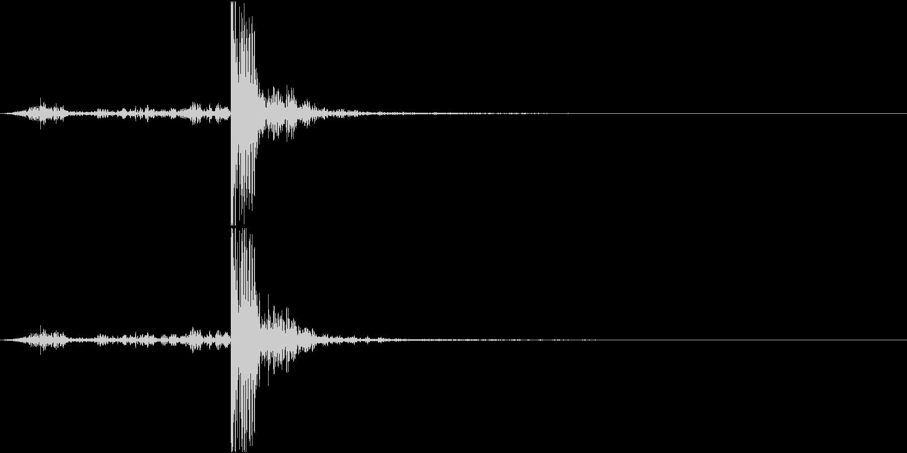 【生録音】回し蹴りをする音 再現音 の未再生の波形