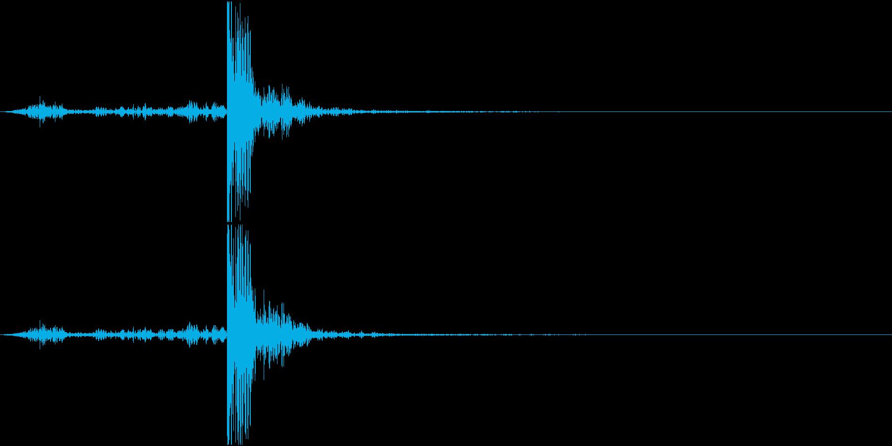 【生録音】回し蹴りをする音 再現音 の再生済みの波形