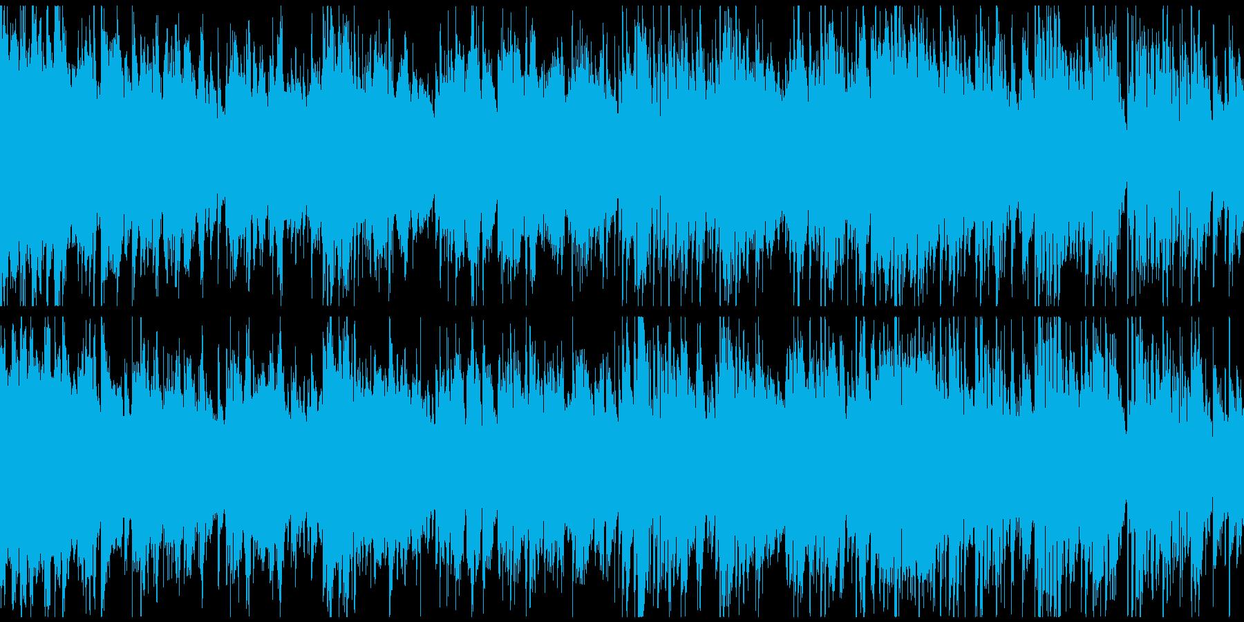 穏やかな低音メロディのボサノバ※ループ版の再生済みの波形