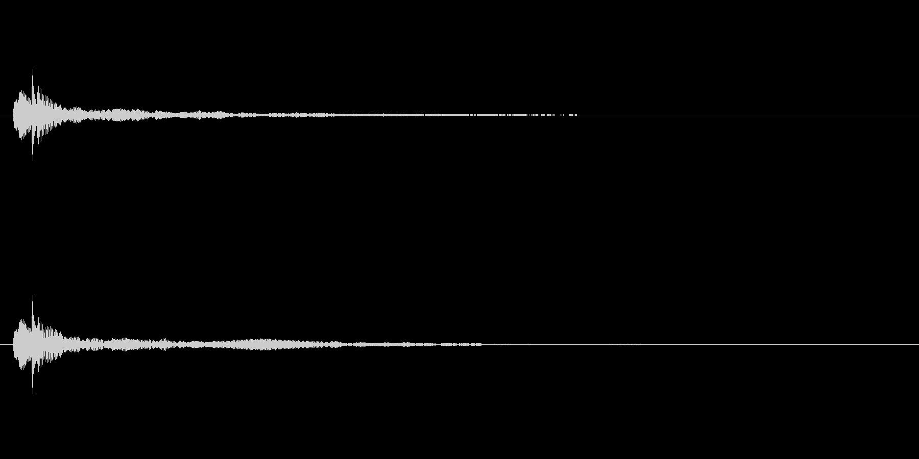 トゥルーン テロップ・決定音・タッチ音の未再生の波形