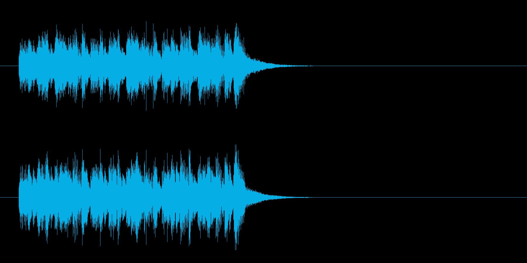 ジングル(レヴュー・ショー風)の再生済みの波形