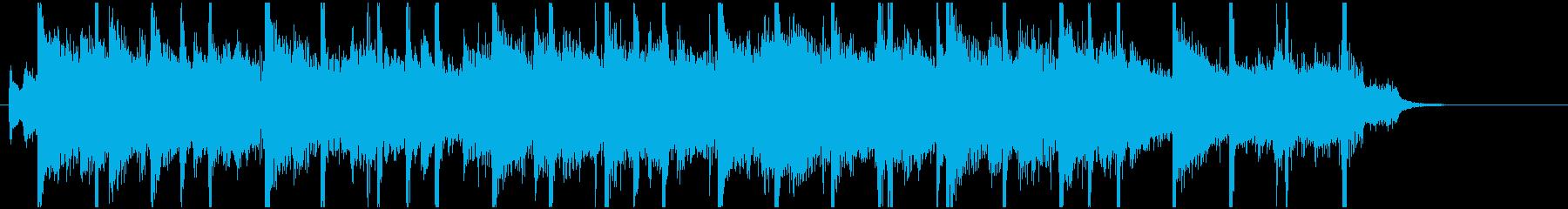 お洒落・都会的ジングル18秒の再生済みの波形
