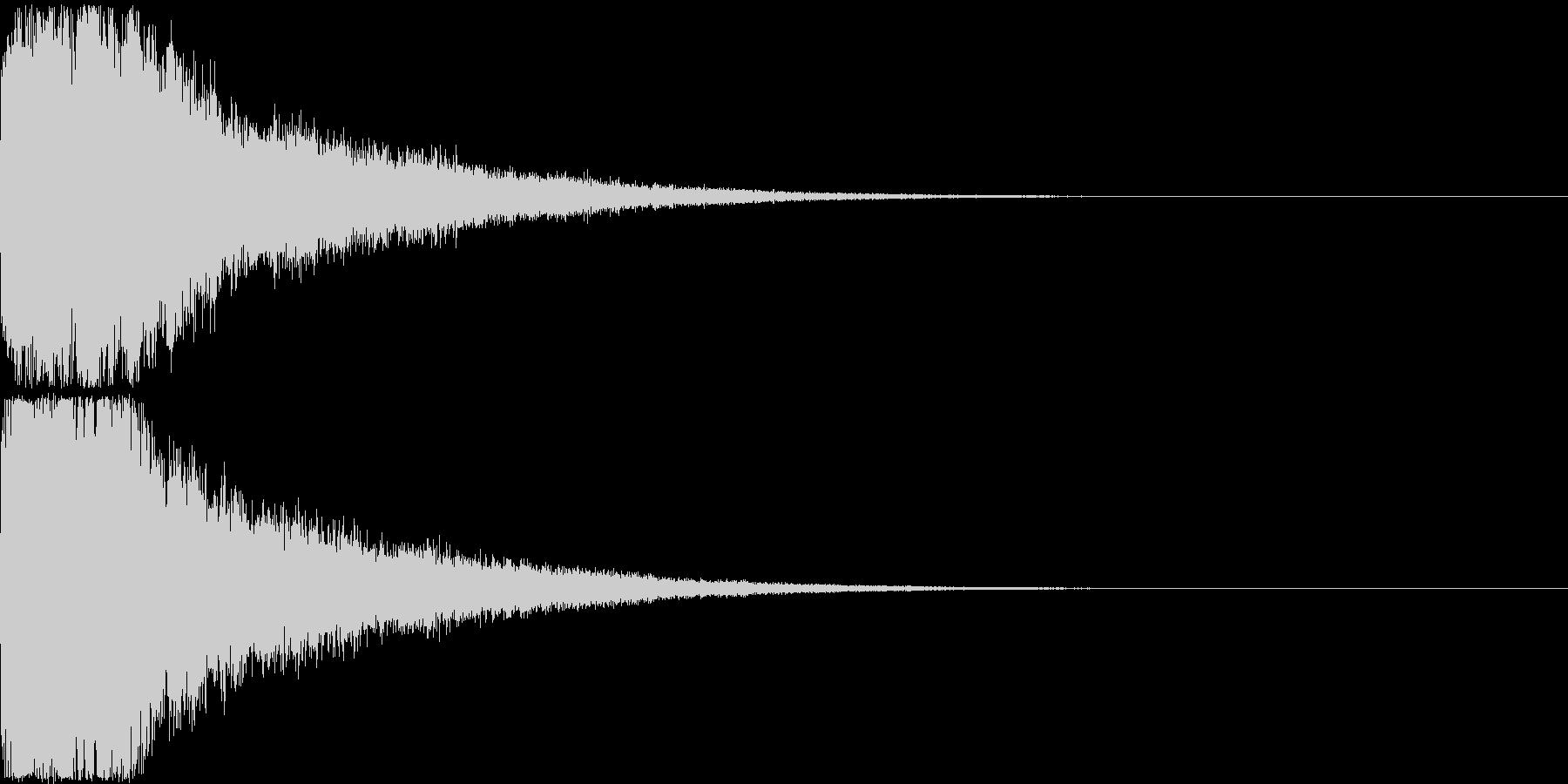 刀 剣 ソード カキーン キュイーン31の未再生の波形