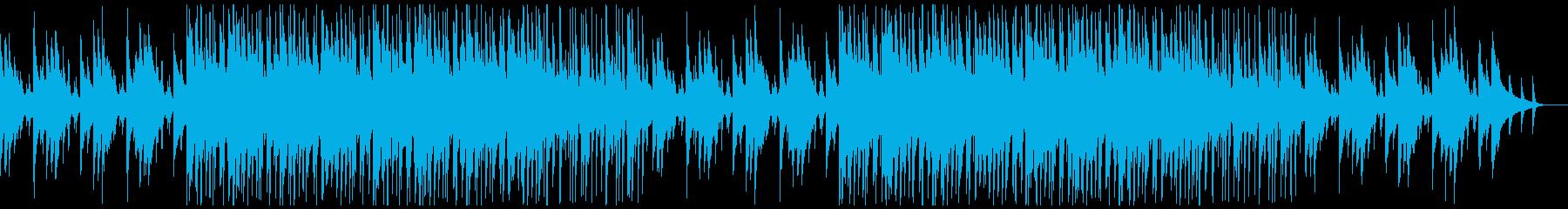 シンプルなエレキギターのヒップホップの再生済みの波形