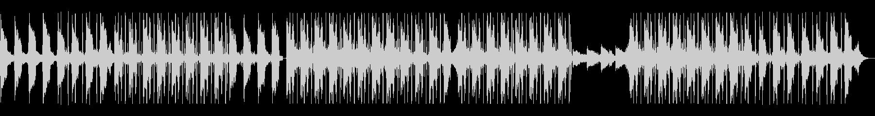 夢の中、波の音、メロウHIPHOPビートの未再生の波形