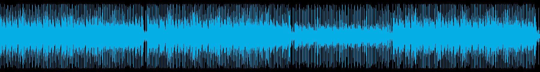 生演奏、楽しいカントリーポップ、Xmasの再生済みの波形