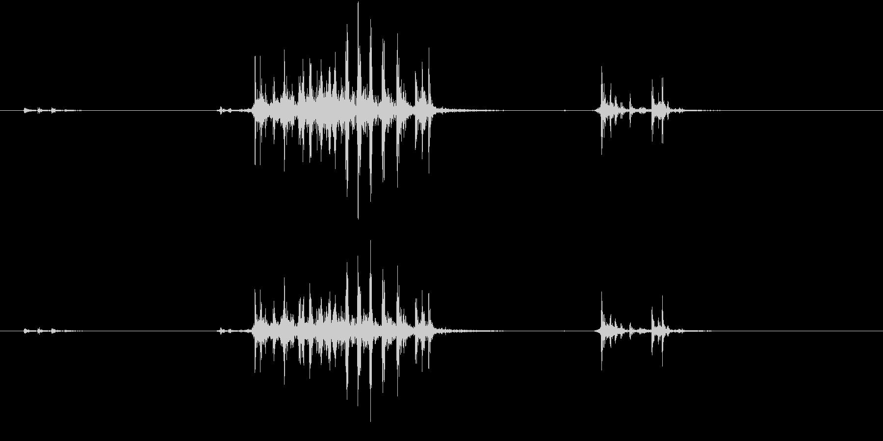 【生録音】カッターナイフの音 12の未再生の波形