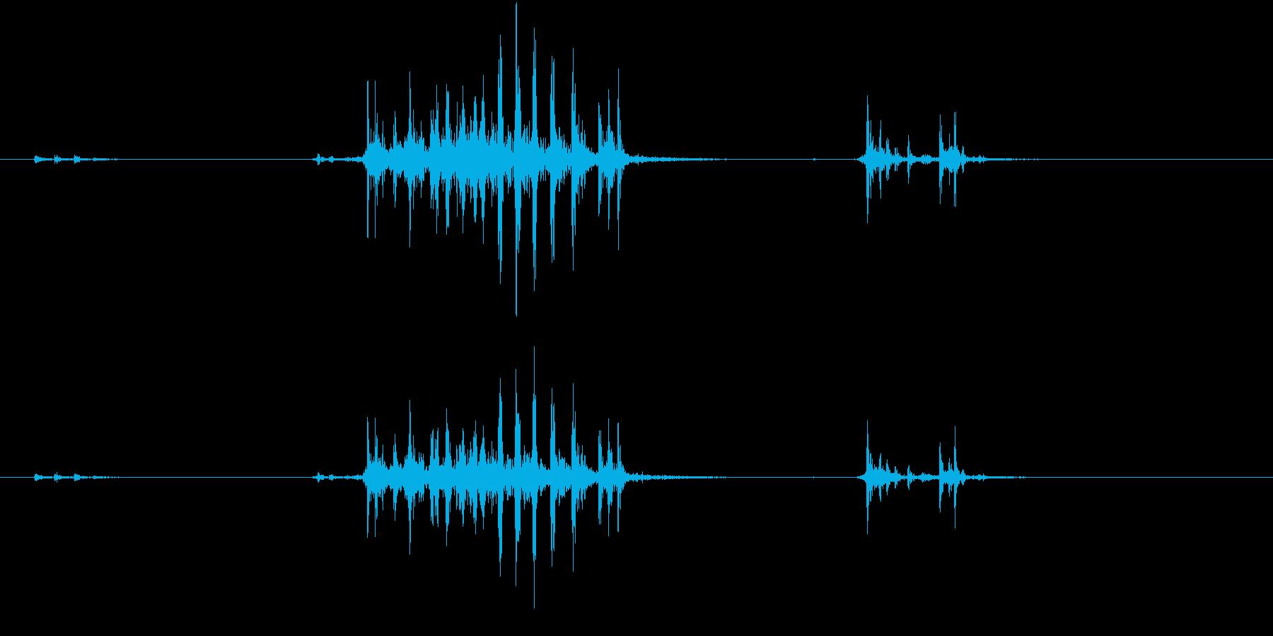【生録音】カッターナイフの音 12の再生済みの波形