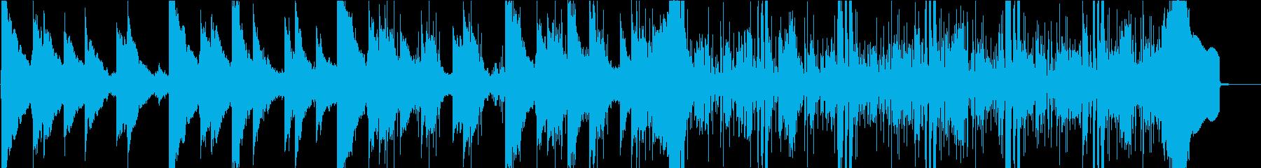 ミステリアスで怪しい曲の再生済みの波形