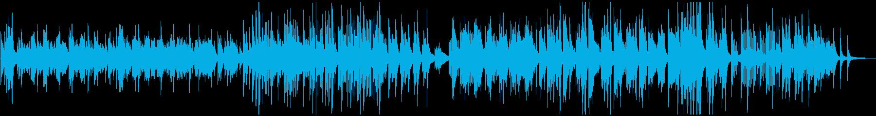古い映画の愛のテーマ曲のようなピアノの再生済みの波形
