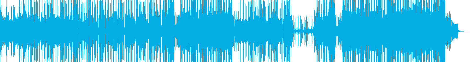 無機質でエモいアグレッシブビート 長尺の再生済みの波形