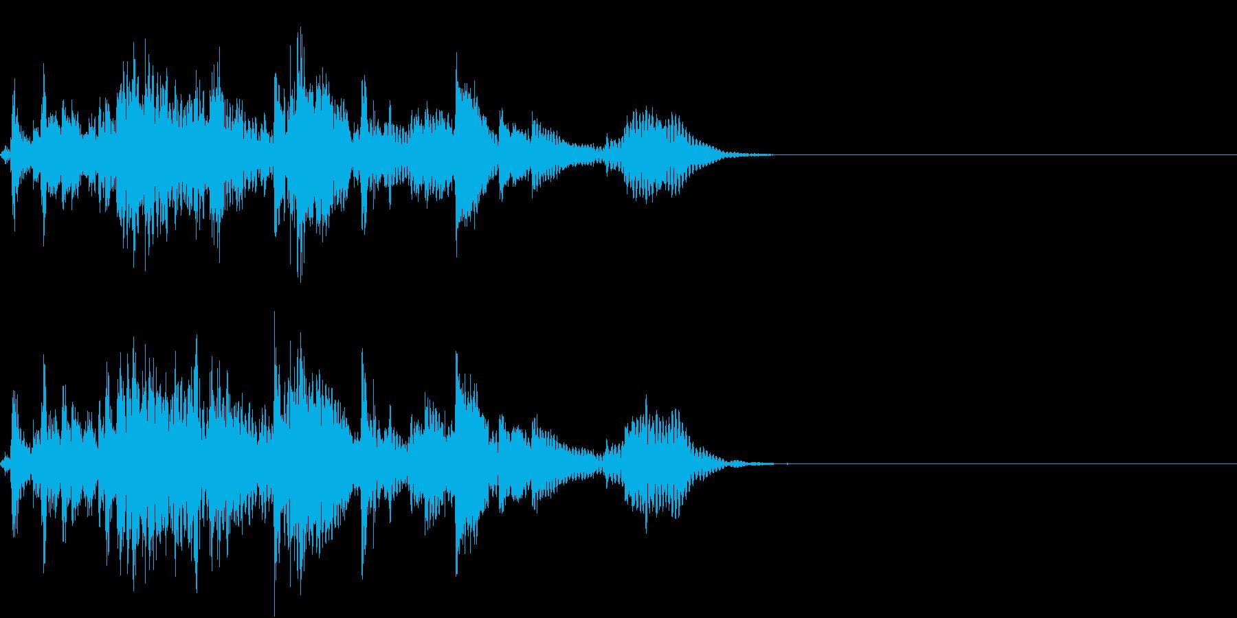 【生録音】犬の首輪のチェーンが鳴る音の再生済みの波形