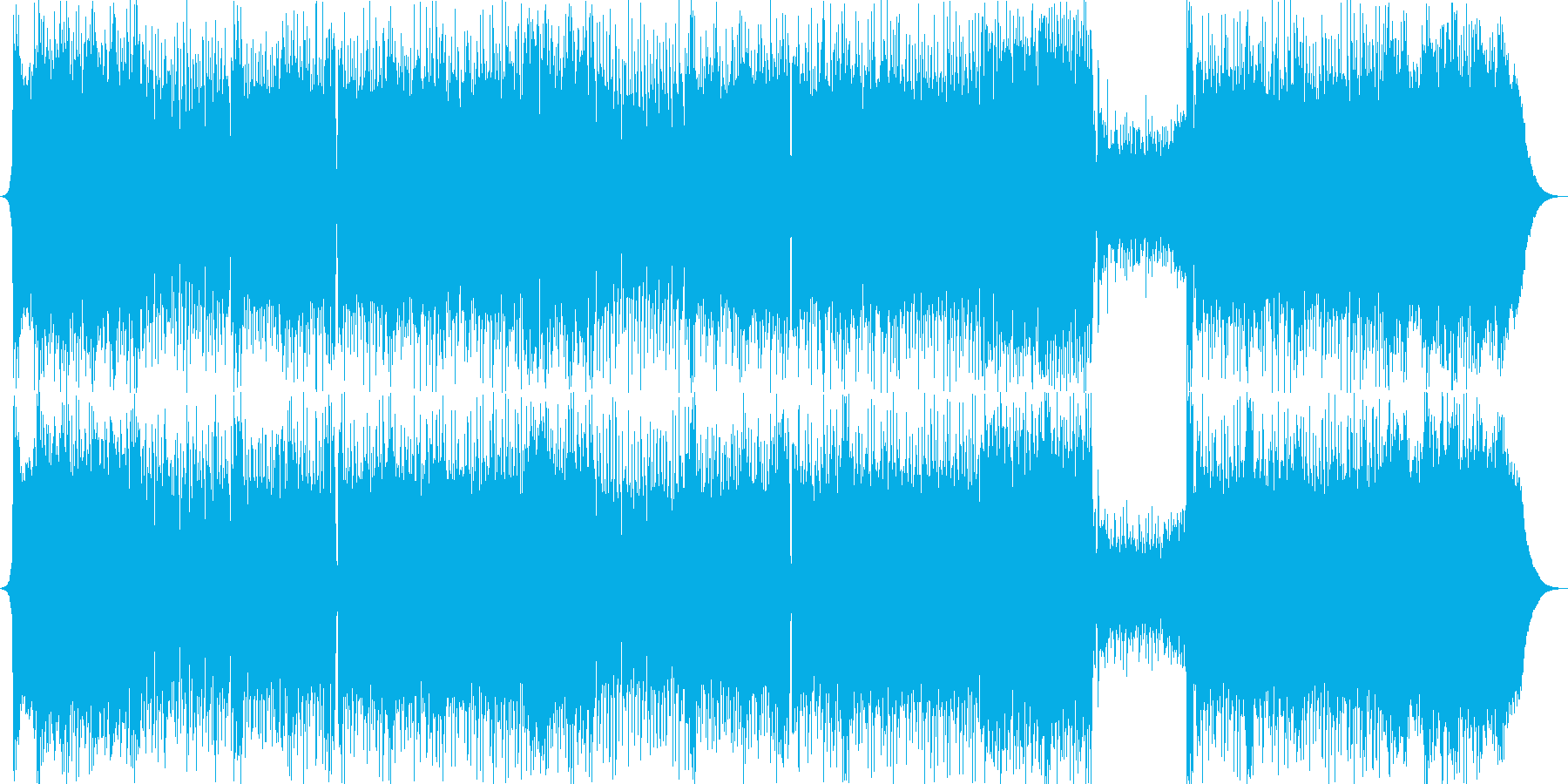 退勤時に聴きたいギターロックの再生済みの波形
