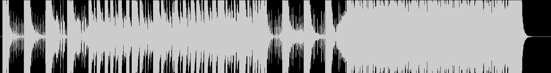 ワイルドで華麗な曲の未再生の波形