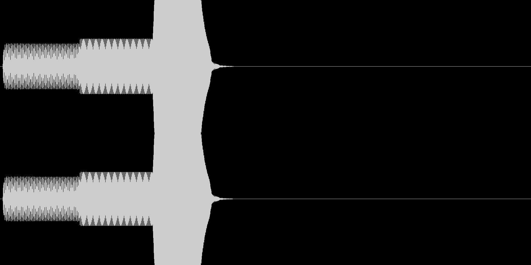 ゲーム系カーソル選択音01 (進む)の未再生の波形