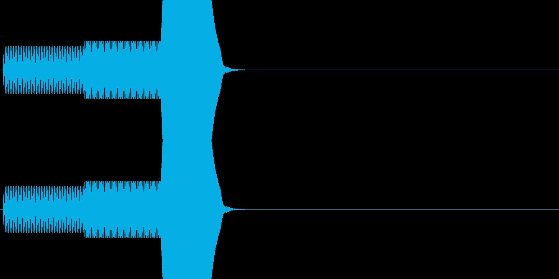 ゲーム系カーソル選択音01 (進む)の再生済みの波形