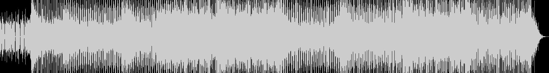 ノリノリのテクノダンス曲の未再生の波形