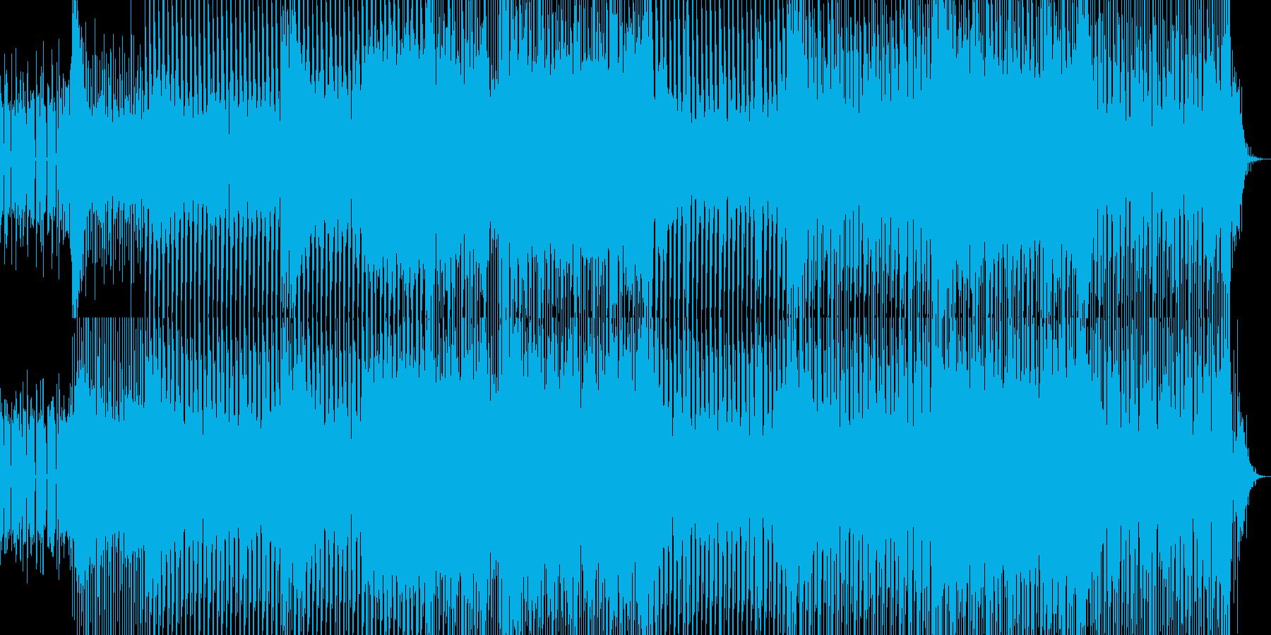 ノリノリのテクノダンス曲の再生済みの波形