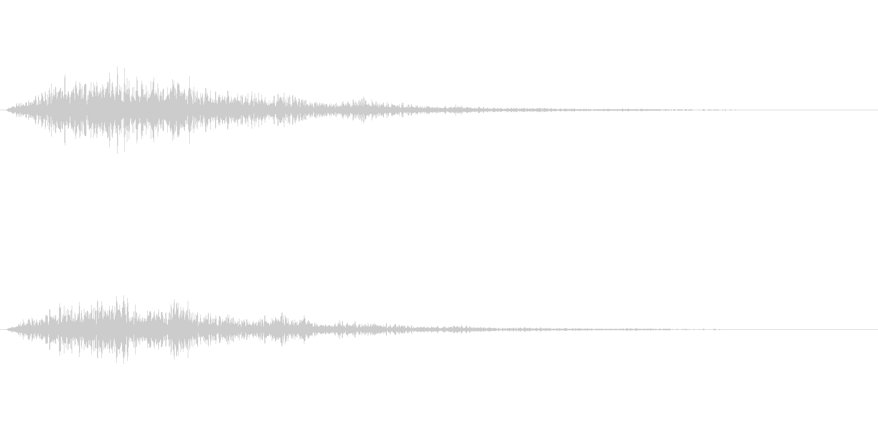 宇宙船や機械的な音ですの未再生の波形