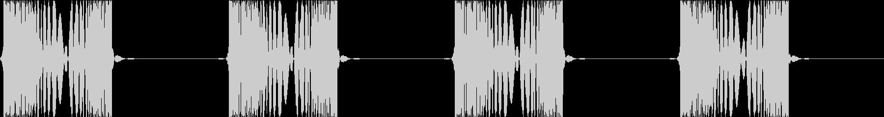 DJプレイ スクラッチ・ノイズ 100の未再生の波形