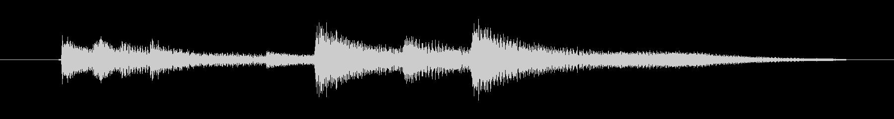 ピアノの響きが美しい汎用的なジングルの未再生の波形