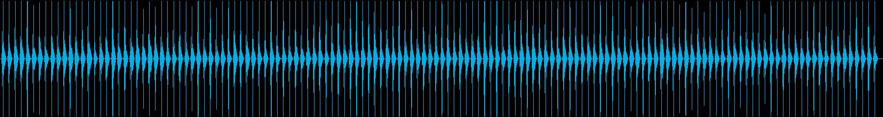 ゼンマイ仕掛けの時計の秒針(チクタク)Bの再生済みの波形