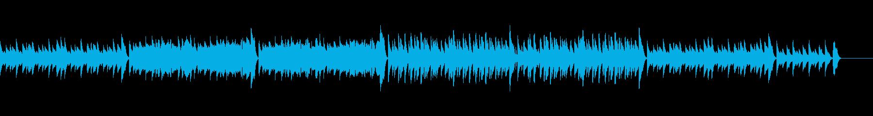 ピアノ、フルート、マリンバの短めの曲の再生済みの波形
