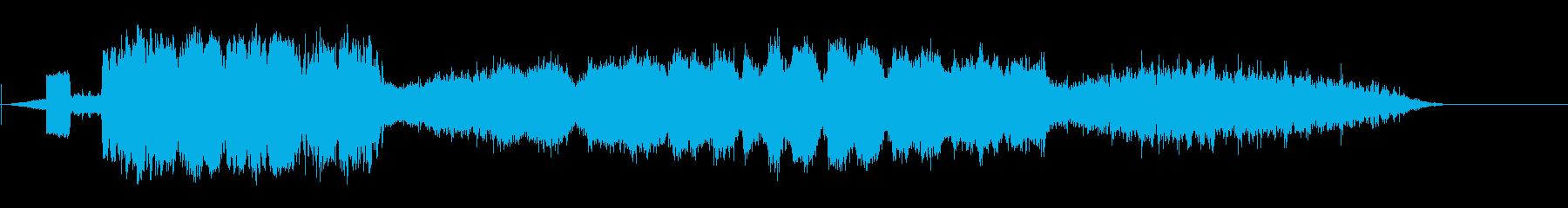 蒸気機関車通過の再生済みの波形