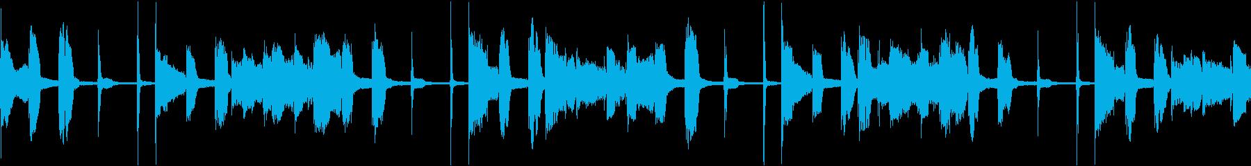 ループ素材_ファンクスラップギターの再生済みの波形