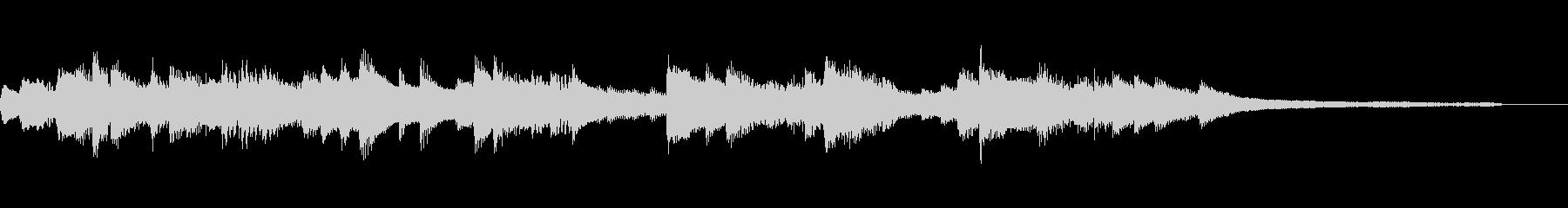 穏やかな15秒のジングル34-ピアノの未再生の波形