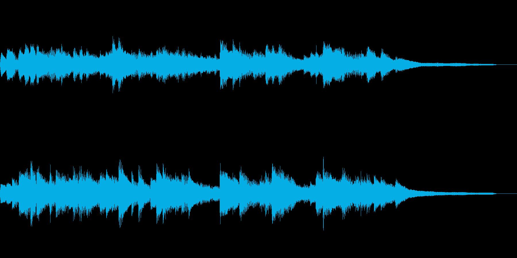 穏やかな15秒のジングル34-ピアノの再生済みの波形
